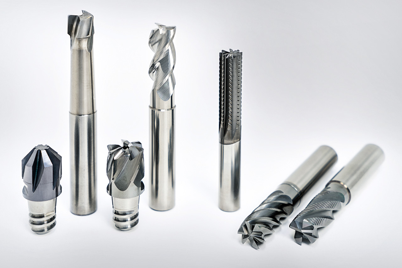 A selection of end milling cutters with fixed cutting edges from MAPAL.