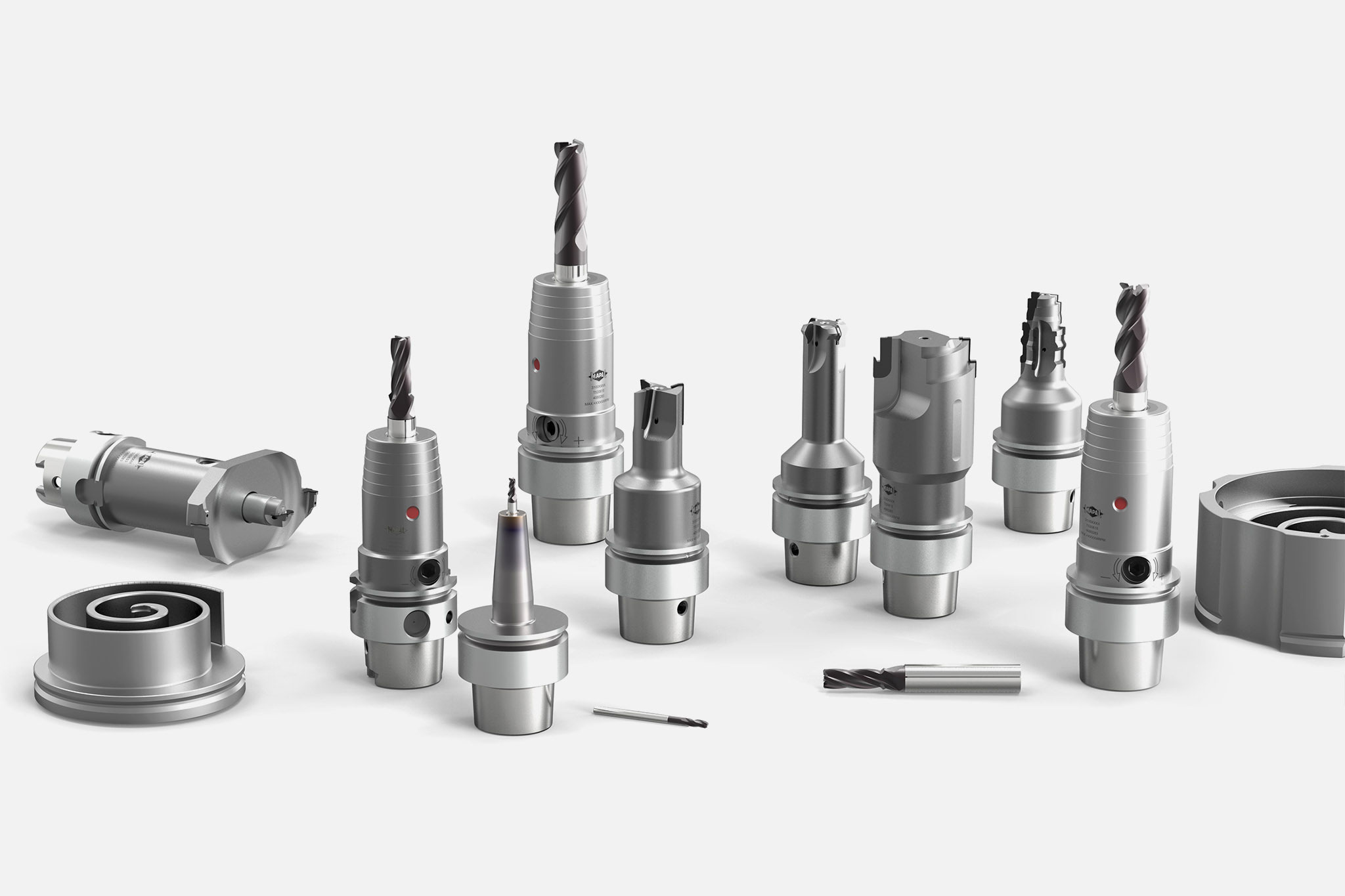 The complete range from MAPAL for machining scroll compressors.
